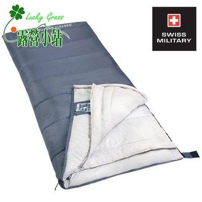 露營小站~【S6T3M002】SWISS MILITARY 可拼接保暖睡袋(灰色)-國旅卡