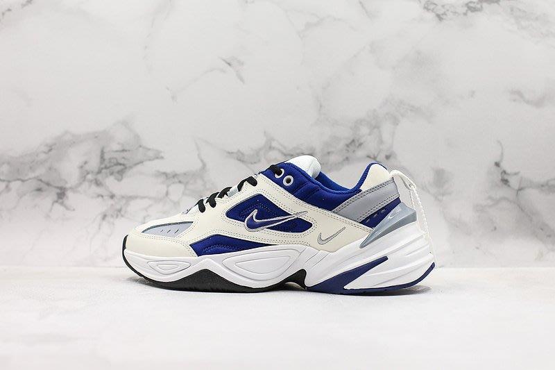 NIKE NIKE M2K TEKNO 米白 深藍 小勾 老爹鞋 休閒運動慢跑鞋 AV4789-103 情侶鞋