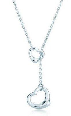 Melia 米莉亞代購 Tiffany&Co. 925純銀 Tiffany 蒂芙尼 項鍊 飾品 禮物 雙心項鍊
