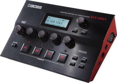 ☆ 唐尼樂器︵☆ BOSS Guitar Effects GT-001 桌上型 綜合 效果器 錄音 GT-001