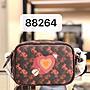 (Outlet特惠)COACH 88264 新款馬車印花彩虹愛心相機包 單肩斜挎 附代購憑證