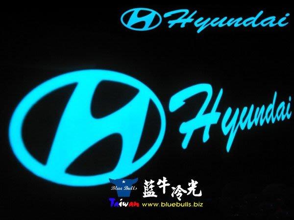 【藍牛冷光】現代 HYUNDAI 式樣冷光貼紙 煞車燈 60CM*10CM 發光圖樣文字皆可加價修改訂做