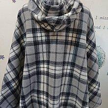 POLAR BEAR 格紋連帽保暖斗篷外套(72)
