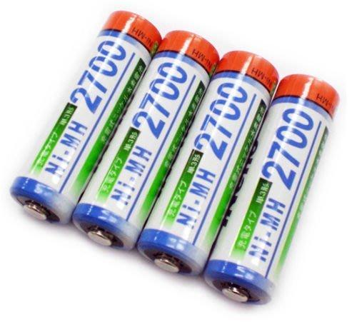 4熱賣iNeno 艾耐諾3號 三號 充電電池 AA-Rechargeable 2700mAh 四入裝 3號鎳氫充電電