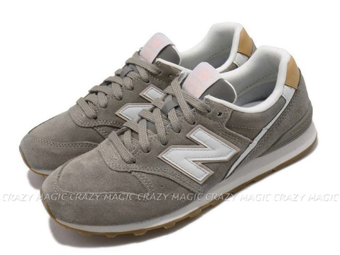 NEW BALANCE NB 996 復古休閒鞋 麂皮 灰卡其色 女生尺寸 # WL996ASB