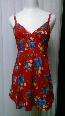 hollister 洋裝 女生 紅色 ...
