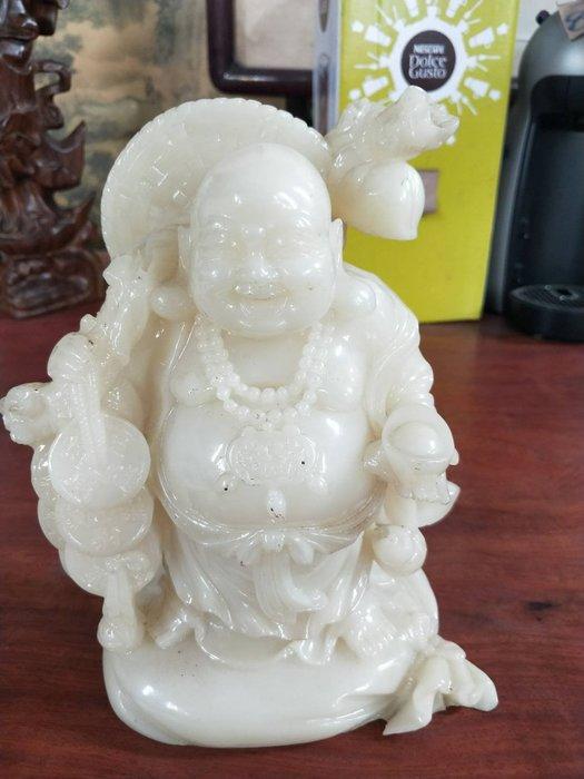 大台北冠均二手貨中心(全省估價 五股店)二手家具--似白玉石彌勒佛藝品裝飾 雕刻品 藝品擺飾 P-062097