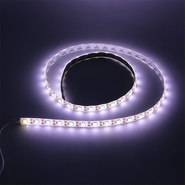 【新奇屋】USB LED 5V 5050白光 露營防水燈條 可使用行動電源 緊急照明(1m)