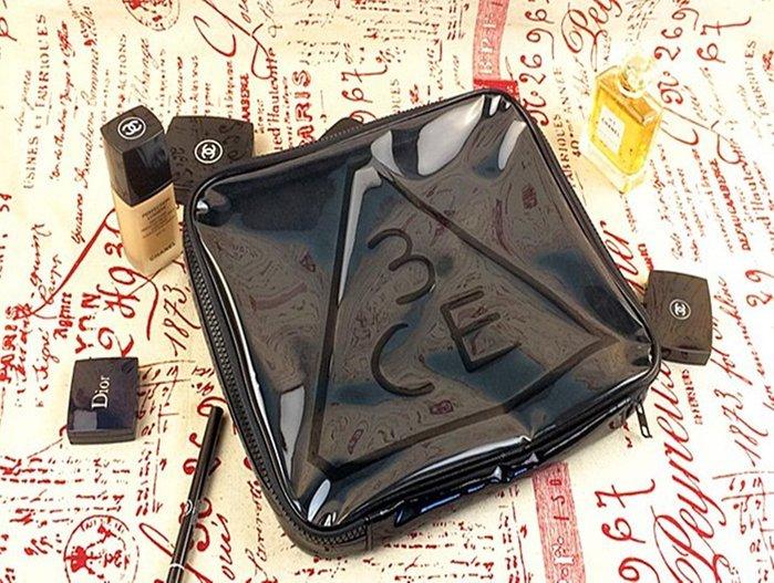 超大容量 化妝箱(現貨)韓國3CE 黑色方形 超大容量 防水化妝包/收納包 韓劇主角熱推款-大容量-風靡日韓