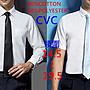 TC長短袖白襯衫長袖白襯衫條紋襯衫寶藍襯衫...