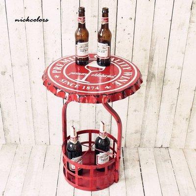 尼克卡樂斯~LOFT 工業風紅色做舊瓶...