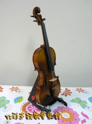 {亨德爾音樂-安畝提琴工作室} 純正歐料4/4手工製獨板小提琴.仿古油性漆-超低價$39999