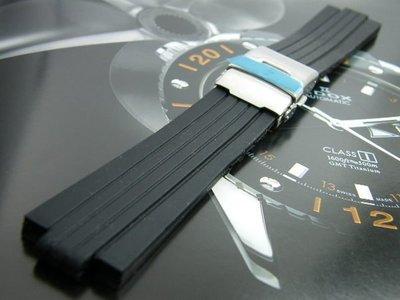 【錶帶家】Oris 豪利時 TT1 SIZE 10mm/24mm 專用替代F1胎紋頂級矽膠錶帶非劣質膠帶