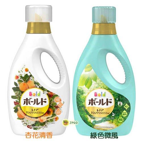 【JPGO】日本製 P&G BOLD 植物香氛柔軟洗衣精 量少試用 750g~綠色微風566杏花清香712