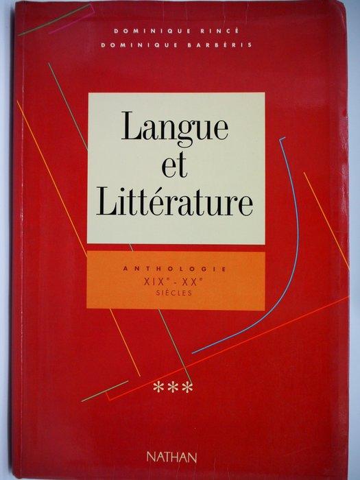 Langue Et Littérature, Anthologie Xixe Et Xxe Siècle〖外文書〗AJJ