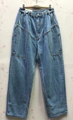BLACK BY RESTART個性造型口袋丹寧寛褲