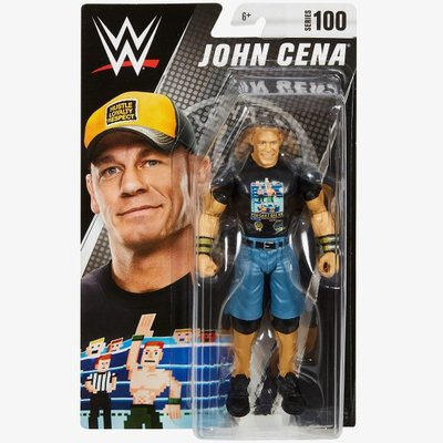 [美國瘋潮]正版WWE John Cena Series #100 Figure 江西南8位元造型經典款人偶公仔特價熱賣