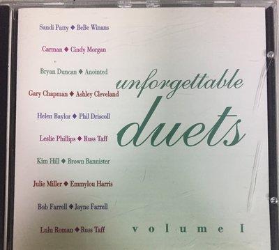 various artists-unforgettable duets 1996年原版 CD, 稀有(非 蔡琴 姜育恆)