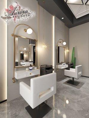 美髮鏡 理髮店 理髮鏡 美髮店 美容鏡 日式復古上燈 風格 摩登鏡台 美容美髮鏡台