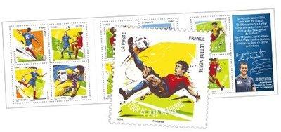 2016年法國足球-10種姿勢自黏郵票booklet