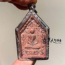 Dhyanibuddhas 梵天聖佛盦 泰國真品佛牌 / 帕阿贊毆 神賜滿願坤平 純銀符管版本 粉色款