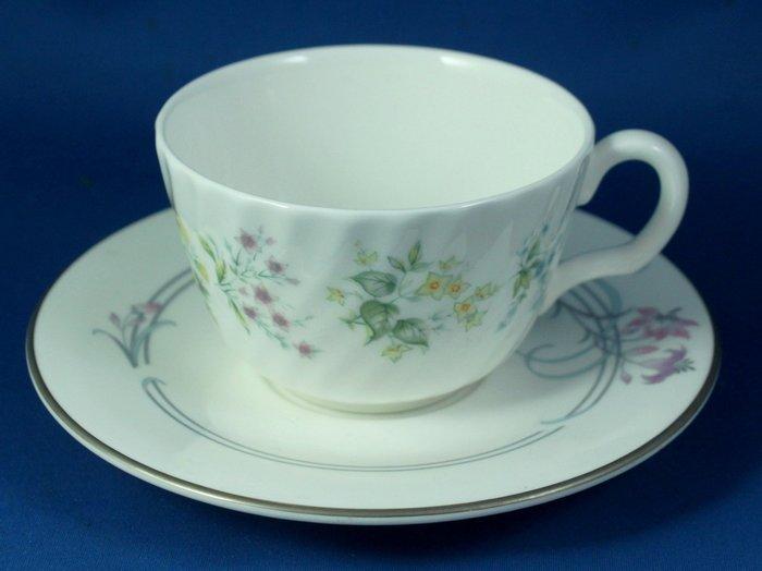 [美]英國百年名瓷MINTON骨瓷茶杯/咖啡杯二用杯盤組SPRING VALLEY+ALLEGRO