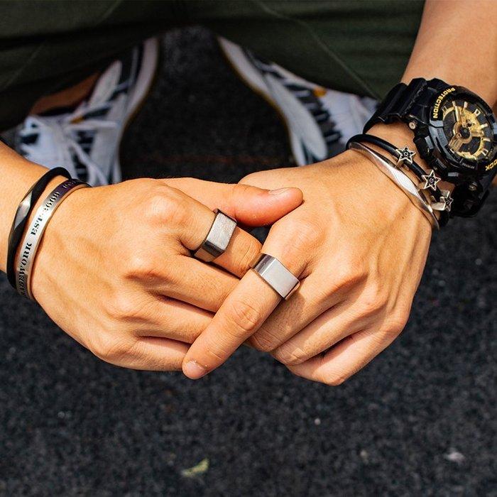 999個性戒指 指環 戒指環 創意 男戒原創北歐瑞典男女復古潮男戒指方形指環情侶尾戒對戒指飾品