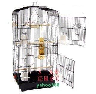 美學168大號黑色平頂大鸚鵡籠 鳥籠 玄鳳籠 群鳥籠(配中隔網+玩具)鳥窩❖83103