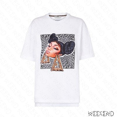【WEEKEND】 FENDI FF Prints On 短袖 上衣 T恤 白色 19秋冬 限定款