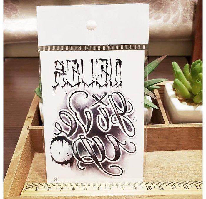 【萌古屋】】個性英文 - 手背防水紋身貼紙刺青貼紙03 K12