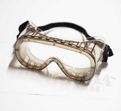 【威威五金】台灣製 石頭牌 鬆緊帶式透明鏡片防護眼鏡 工作護目鏡 工程眼鏡 大鏡面防護目鏡 安全眼鏡 防塵眼鏡 202