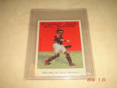 美國職棒 Cardinals Yadier Molina 04 Topps Cracker Jack Mini版 新人卡