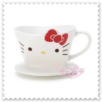 ♥小公主日本精品♥ Hello Kitty 陶瓷咖啡濾杯 陶瓷杯 啡滴頭 滴濾杯 大臉造型 蝴蝶結 11279709