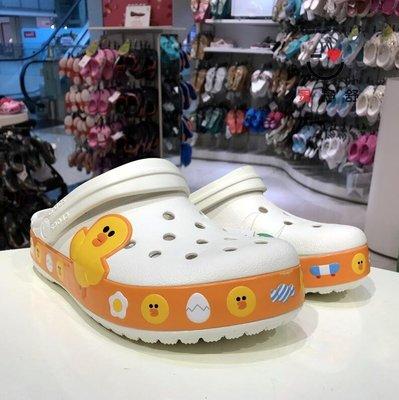 Crocs洞洞鞋LINE Friends卡駱班沙灘卡洛馳男女涼鞋小黃鴨205791