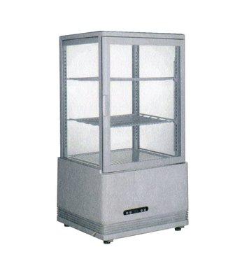 鑫忠廚房設備-餐飲設備:全新58L桌上型玻璃展示冷藏冰箱-賣場有烤箱-水槽-微波爐-咖啡機-電磁爐-西餐爐-快速爐