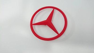 ~圓夢工廠~ 賓士 Benz 鍍鉻星標 logo mark 同原廠款式 直徑7cm A2037580058 質感紅