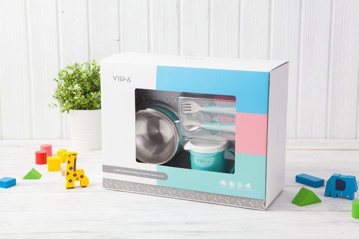 ♡NaNa Baby♡VIIDA - Soufflé 抗菌不鏽鋼餐具組 五色可選