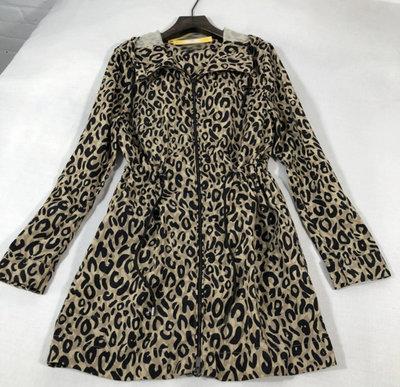 英國品牌Jager豹紋風衣size:14(I'm)