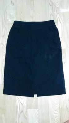 Theme黑色OL上班兩片裙34號