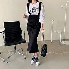 【莉莎小屋】正韓 春款新品(預購) 💝韓國連線代購- 下魚尾吊帶裙👚👖 E210302