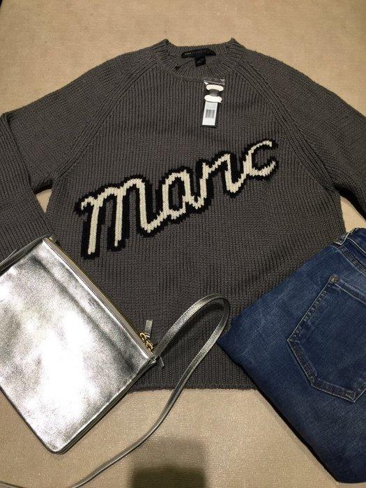 全新 MARC by MARC JACOBS 灰紫色圓領毛衣 針織毛衣 衛衣