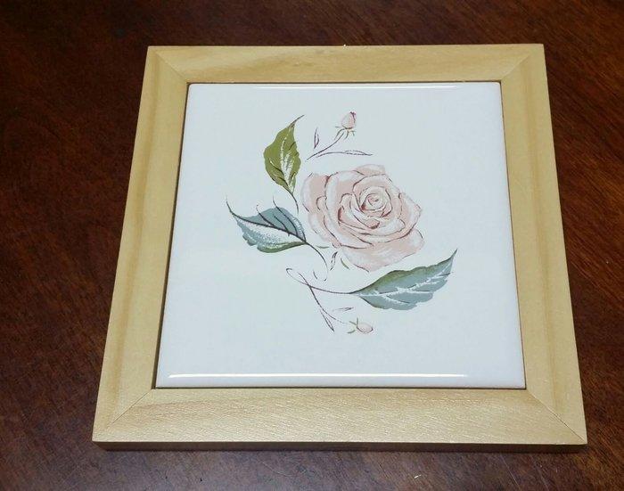 美生活館 玫瑰花 磁磚 隔熱墊 掛畫