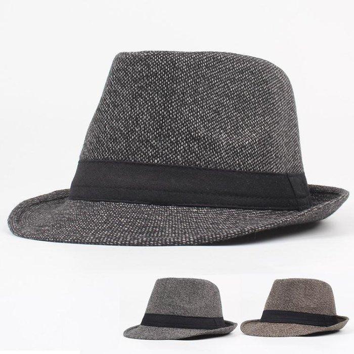 男帽子 紳士帽 秋冬新款男韓版短簷青年時尚情侶英倫復古爵士帽禮帽yx398