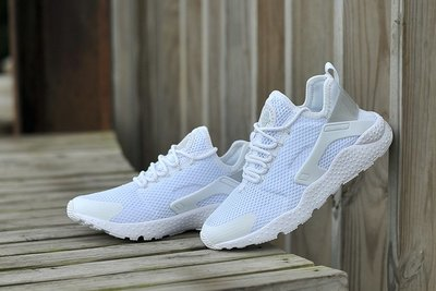 D-BOX NIKE AIR HUARACHE ULTRA BREATHE 全白 白色 網面 透氣跑步鞋 運動鞋 男女鞋