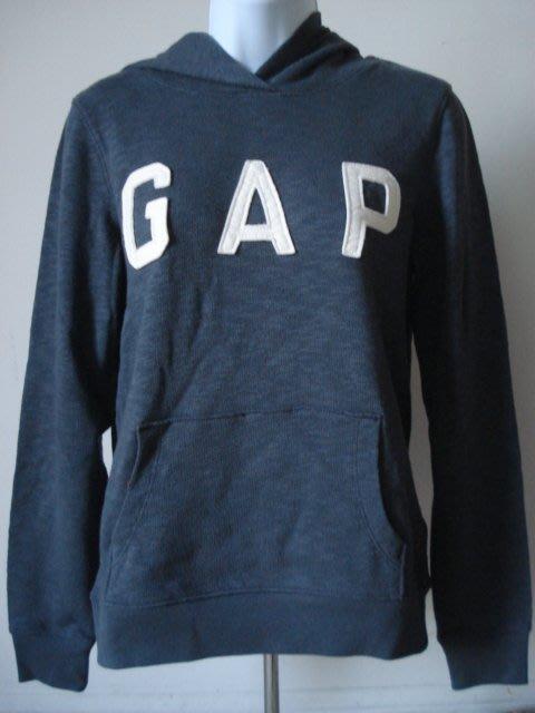 【天普小棧】GAP Arch Logo Hoodie貼布logo長袖連帽T恤 帽T 深灰 現貨XS號