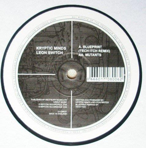 [狗肉貓]_Kryptic Minds & Leon Switc_ Blueprint (Tech Itch Remix) / Mutants _ LP