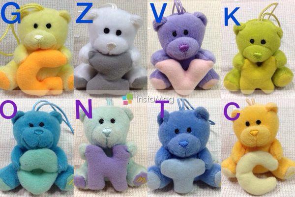 【小逸的髮寶】麥當勞2007年玩具~ABC泰迪熊!單隻80元起下標區!