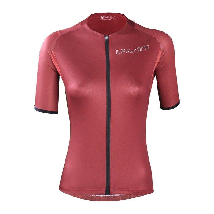 M現貨水鑽系列【ILPALADINO】競技型女士短袖車衣 :: 緋紅