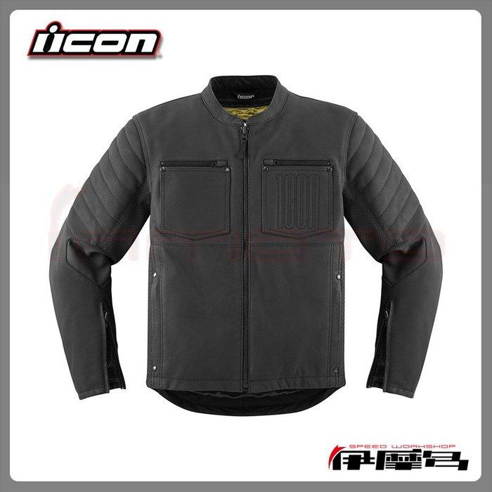 伊摩多※美國 icon 1000 Axys Jackets 夾克 防摔衣 皮布混合 D3O 護具 復古 美式 哈雷 黑