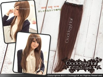 *GoddessHair*【HU0061】22吋3夾100%真髮接髮片 髮量加厚 可染燙 髮質柔順好整理